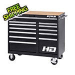 Waterloo 46-Inch Professional HD Series Black 12-Drawer Cabinet