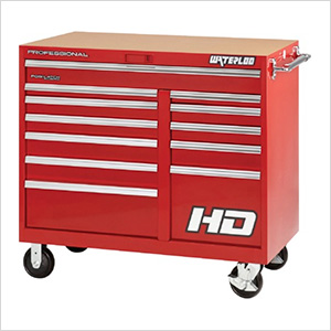 46-Inch Professional HD Series Red 12-Drawer Cabinet