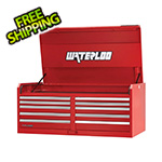 Waterloo 56-Inch Professional HD Series 10-Drawer Red Tool Chest
