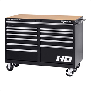 56-Inch Professional HD Series Black 12-Drawer Cabinet