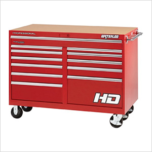 56-Inch Professional HD Series Red 12-Drawer Cabinet