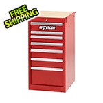 Waterloo Professional HD Series Red 7-Drawer Side Cabinet