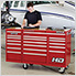 Professional HD Series Red 7-Drawer Side Cabinet