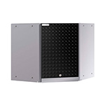 NewAge Garage Cabinets PERFORMANCE PLUS 2.0 Black Diamond Plate Corner Wall Cabinet