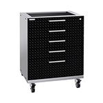 NewAge Garage Cabinets PERFORMANCE PLUS 2.0 Black Diamond Plate Tool Drawer
