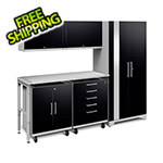 NewAge Garage Cabinets PERFORMANCE PLUS 2.0 Black 6-Piece Set