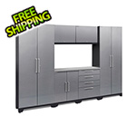 NewAge Garage Cabinets PERFORMANCE 2.0 Silver Diamond Plate 7-Piece Cabinet Set