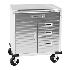 UltraHD Stainless Steel Top Rolling Cabinet
