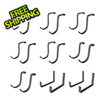 SafeRacks Hook Accessory Package - Hammertone (18-Pack)