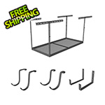 "MonsterRax 4'x6' Overhead Storage 24""-45"" Drop Combo (Includes 2 Racks and 18 Hooks)"