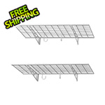 "SafeRacks 36"" x 18"" Wall Shelves (2-Pack)"