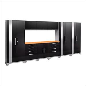 PERFORMANCE 2.0 Black 10-Piece Cabinet Set with LED Lights