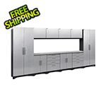 NewAge Garage Cabinets PERFORMANCE 2.0 Silver Diamond Plate 12-Piece Cabinet Set
