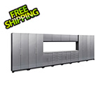 NewAge Garage Cabinets PERFORMANCE 2.0 Silver Diamond Plate 14-Piece Cabinet Set