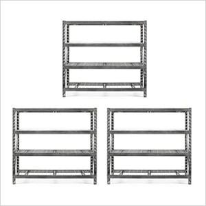 77-Inch Tool-Free Rack Shelving (3-Pack)