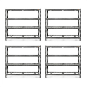 77-Inch Tool-Free Rack Shelving (4-Pack)
