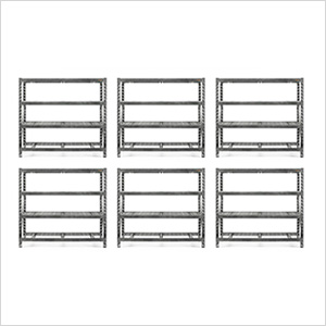 77-Inch Tool-Free Rack Shelving (6-Pack)