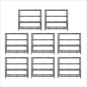 77-Inch Tool-Free Rack Shelving (8-Pack)