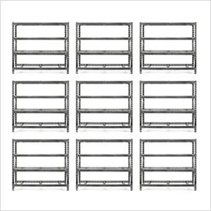 77-Inch Tool-Free Rack Shelving (9-Pack)