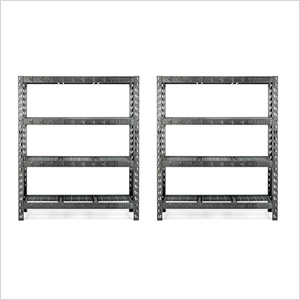 60-Inch Tool-Free Rack Shelving (2-Pack)
