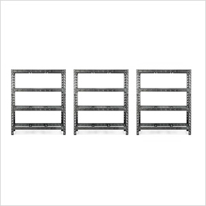 60-Inch Tool-Free Rack Shelving (3-Pack)