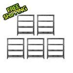 Gladiator GarageWorks 60-Inch Tool-Free Rack Shelving (5-Pack)