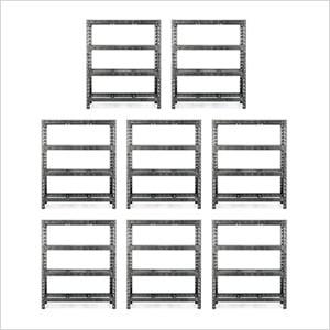 60-Inch Tool-Free Rack Shelving (8-Pack)