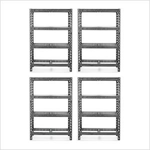 48-Inch Tool-Free Rack Shelving (4-Pack)