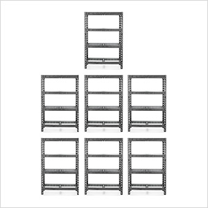 48-Inch Tool-Free Rack Shelving (7-Pack)