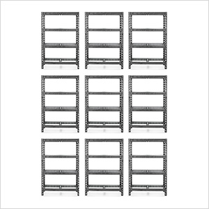 48-Inch Tool-Free Rack Shelving (9-Pack)
