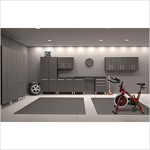 12-Piece Garage Cabinet Kit with Fusion Indoor Cycle