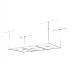 3' x 6' Overhead Storage Rack (White)