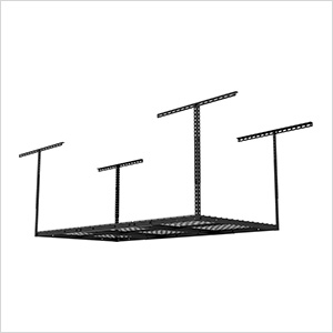 3' x 6' Overhead Storage Rack (Black)