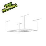 Fleximounts 4' x 6' Overhead Storage Rack (White)