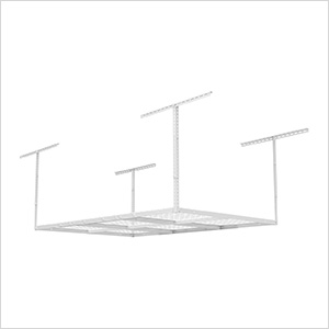 4' x 6' Overhead Storage Rack (White)
