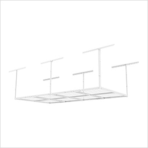 4' x 8' Overhead Storage Rack (White)