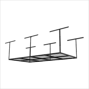 4' x 8' Overhead Storage Rack (Black)