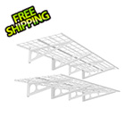 Fleximounts 2' x 6' White Wall Mounted Shelf (2-Pack)