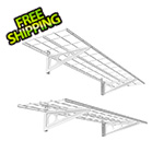 Fleximounts 1' x 4' White Wall Mounted Shelf (2-Pack)