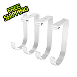 Fleximounts White Flat Storage Hook (4-Pack)