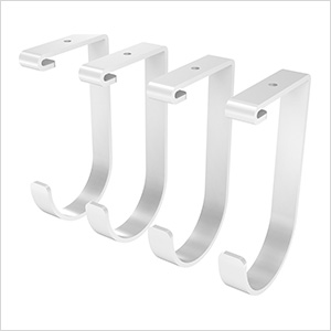 White Flat Storage Hook (4-Pack)
