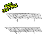"SafeRacks 48"" x 24"" Wall Shelves (2-Pack)"