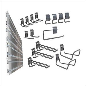 Slat Wall 20-Piece Garage Organization Kit