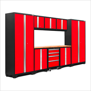 BOLD Series 3.0 Red 9-Piece Set with Bamboo Top and LED Lights