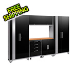 NewAge Garage Cabinets PERFORMANCE 2.0 Black 7-Piece Cabinet Set