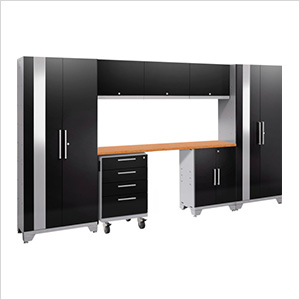 PERFORMANCE 2.0 Black 8-Piece Cabinet Set with LED Lights