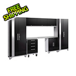 NewAge Garage Cabinets PERFORMANCE 2.0 Black 8-Piece Cabinet Set