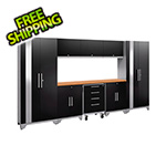 NewAge Garage Cabinets PERFORMANCE 2.0 Black 9-Piece Cabinet Set