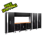 NewAge Garage Cabinets PERFORMANCE 2.0 Black 10-Piece Cabinet Set