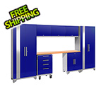 NewAge Garage Cabinets PERFORMANCE 2.0 Blue 8-Piece Cabinet Set